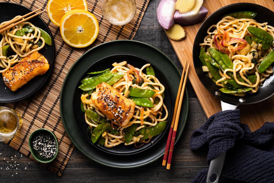 Sesame Haddock & Fresh Noodles