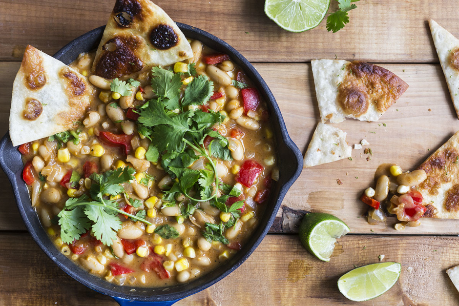 White Vegetarian Chili