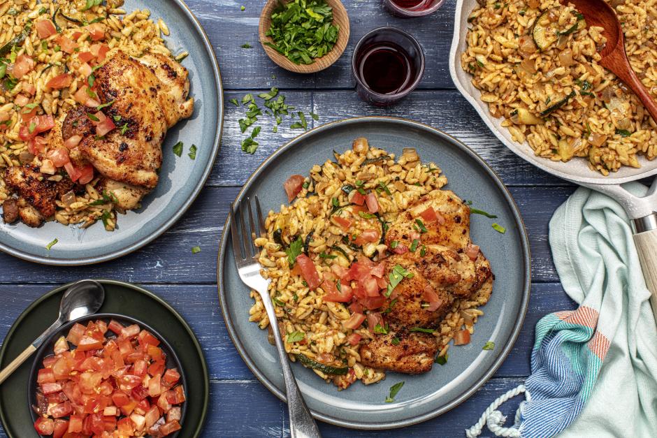 Pan-Seared Chicken & Zucchini