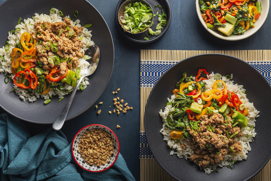 Orange Ground Pork Stir-Fry