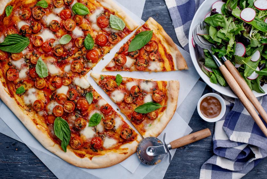 Roasted Cherry Tomato & Fresh Mozzarella Pizza