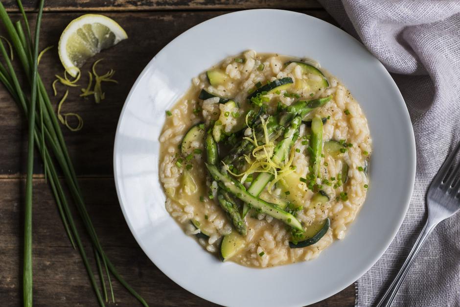 Asparagus & Zucchini Risotto