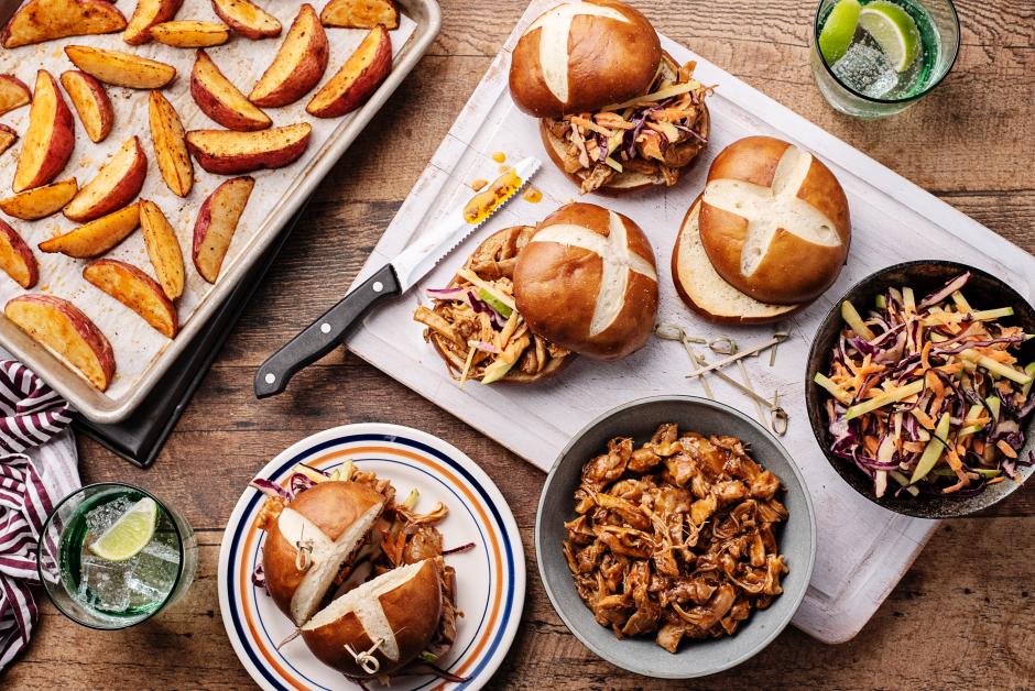 Apple-BBQ Pulled Chicken Sandwich