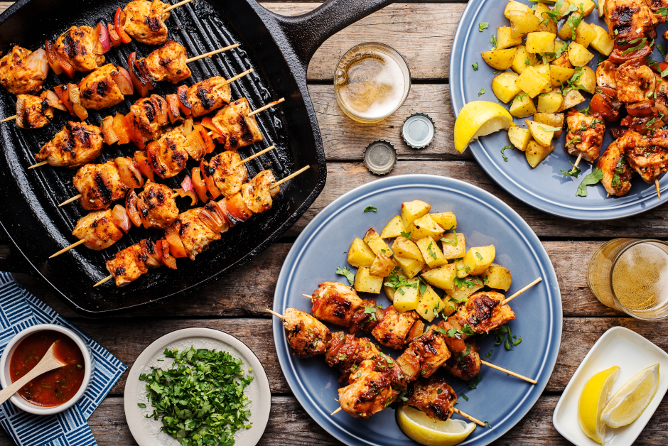 Portuguese-Style Chicken & Vegetable Skewers