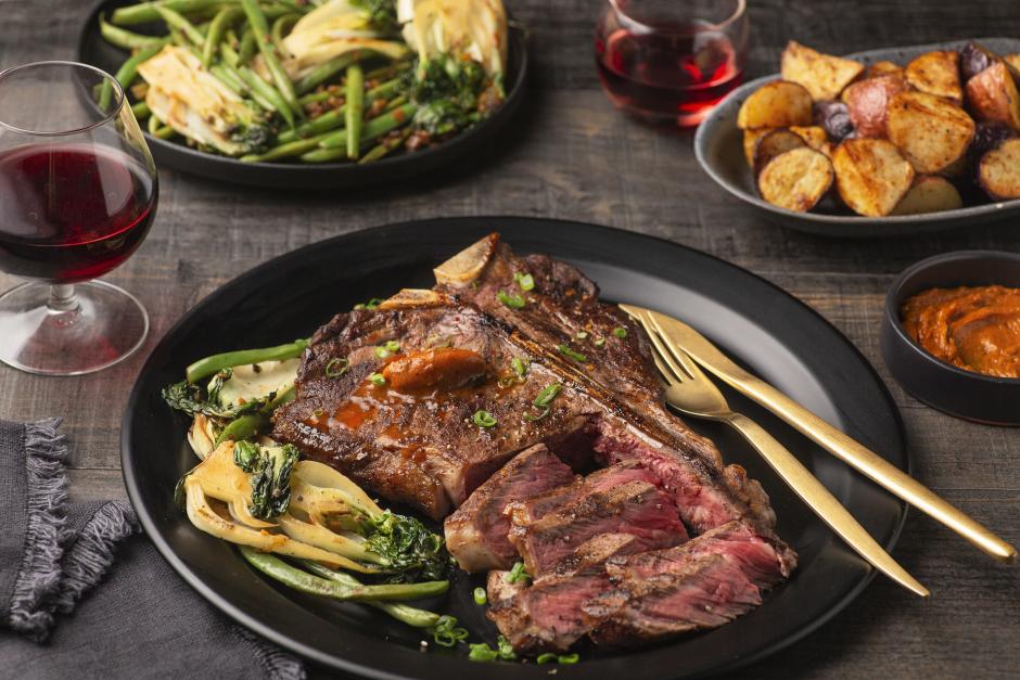 Seared Porterhouse Steak with Gochujang Butter