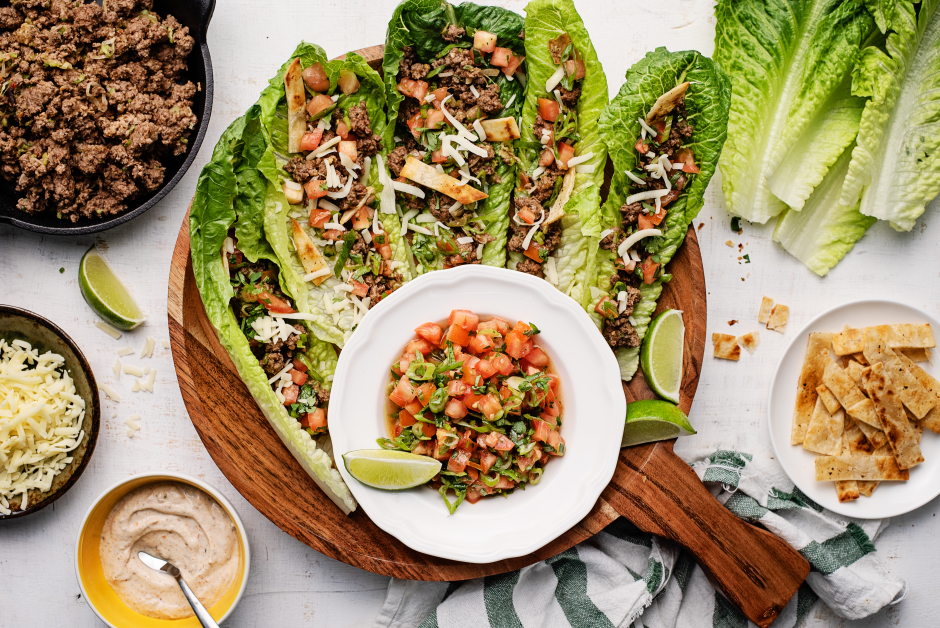 Beef Taco Lettuce Cups