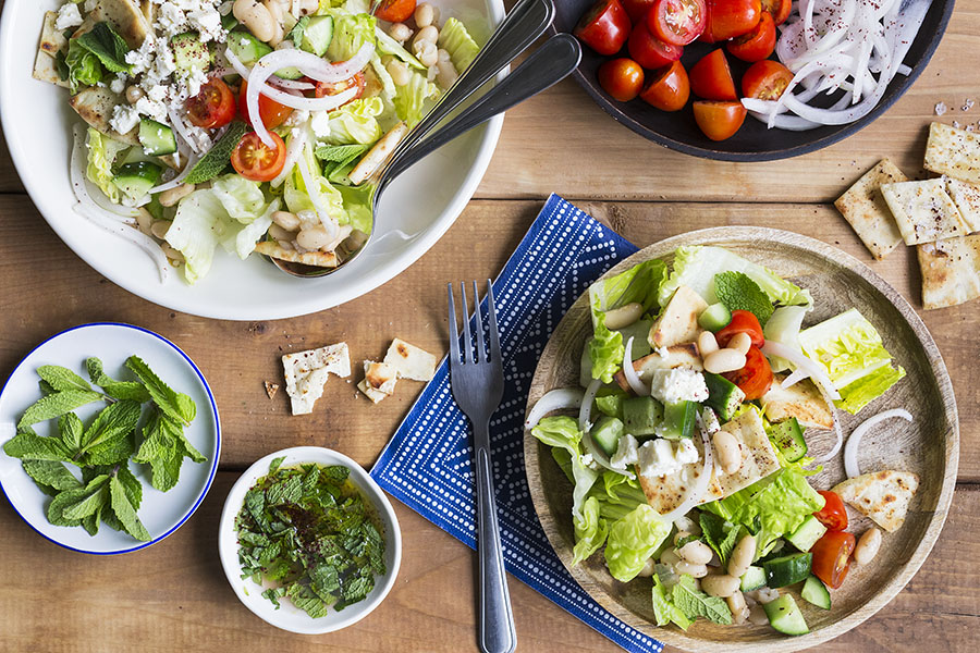 Marinated Sweet Onion Fattoush Salad