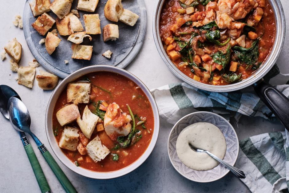 Basque-Style Bouillabaisse with Cod