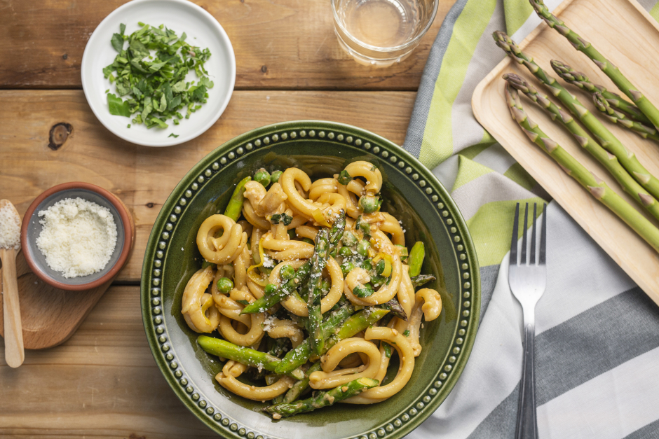 Fresh Gemelli with Creamy Herbed Sauce