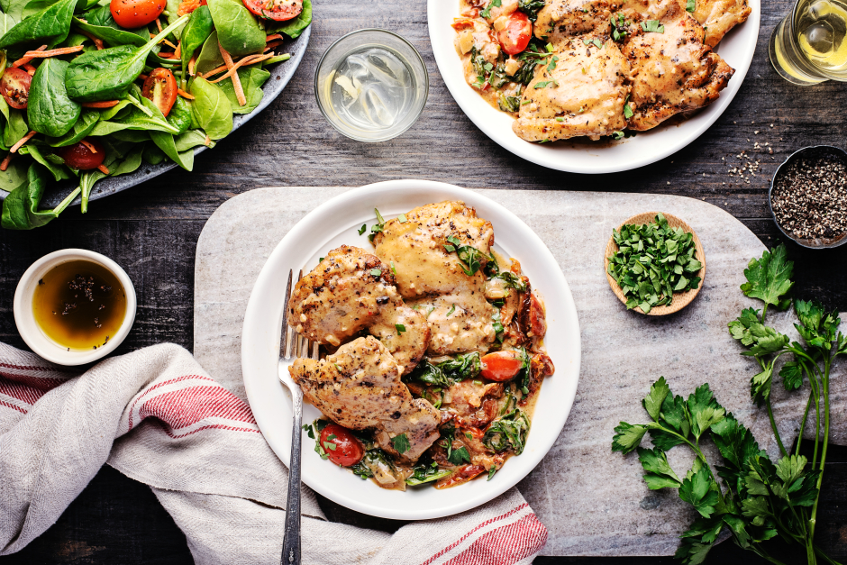 Creamy Tuscan-Style Chicken Thighs