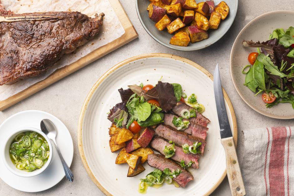 Porterhouse Steak with Argentinian Chimichurri