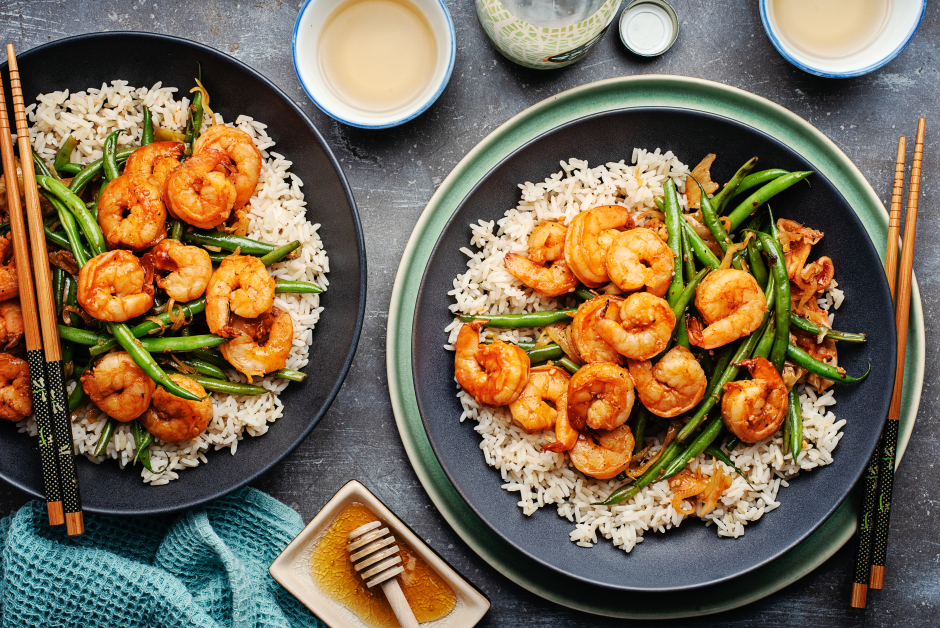 Honey, Garlic & Gochujang Marinated Shrimp