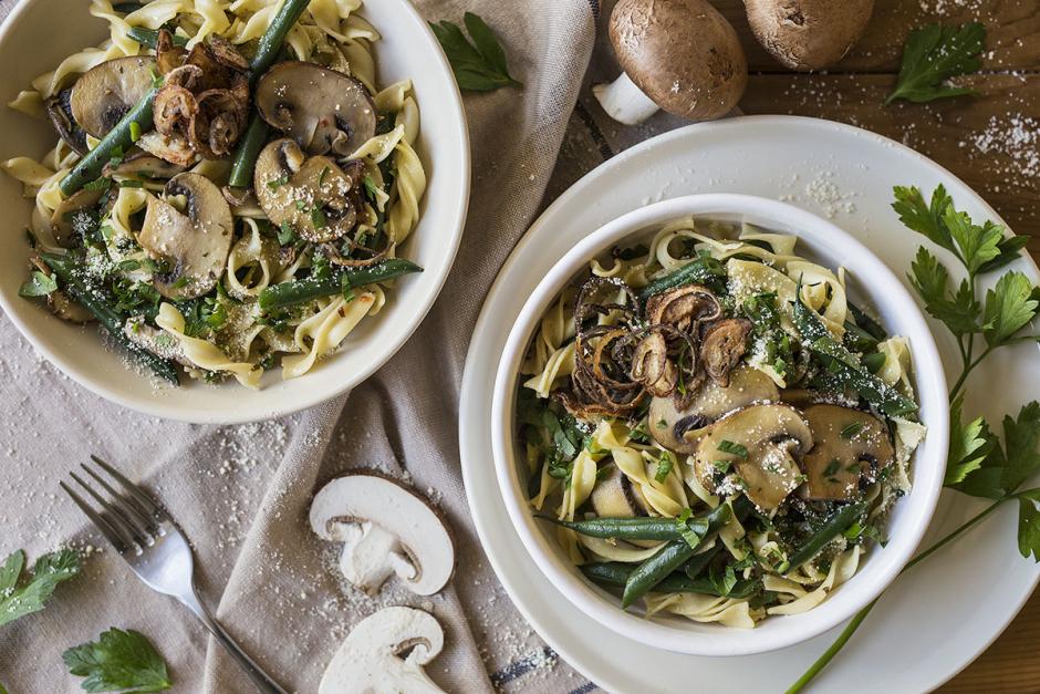 Cremini & Shiitake Mushroom Pasta