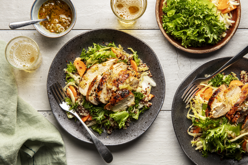 Zesty Thyme Chicken Breasts & Crisp Frisée Salad