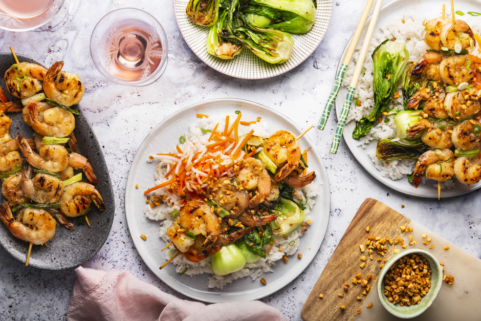 Grilled Lemongrass Shrimp Skewers