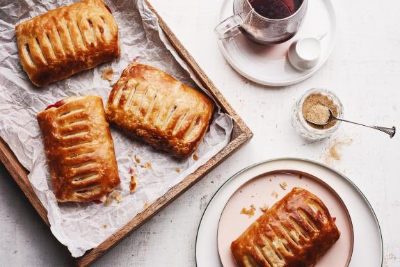 Strawberries & Cheese Danish Pastries