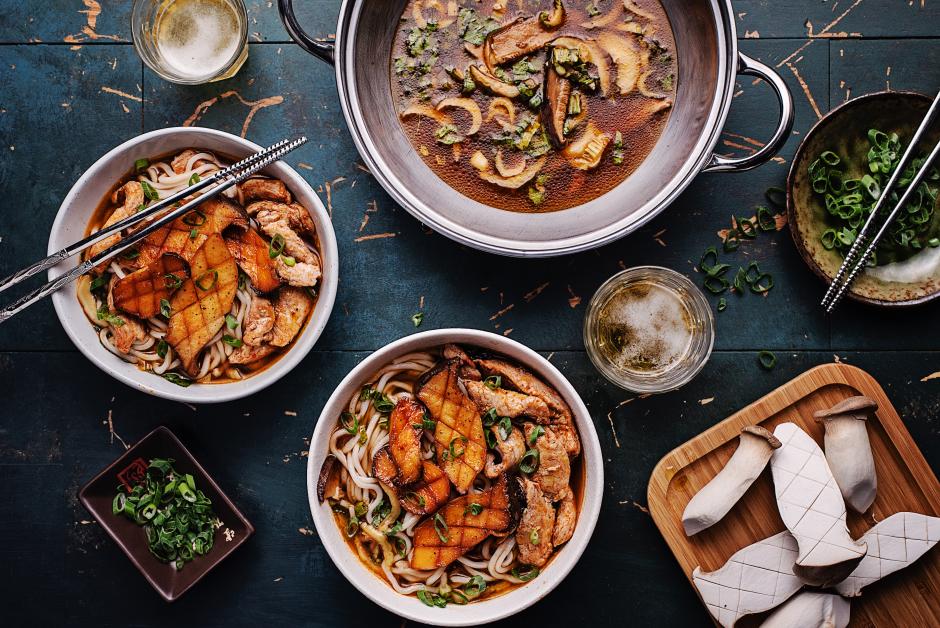 Pork & King Oyster Mushroom Ramen Soup