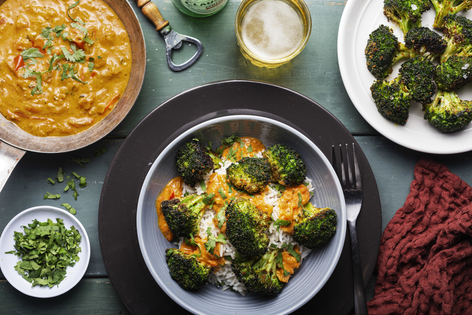 Rich & Creamy Roasted Broccoli Madras Curry