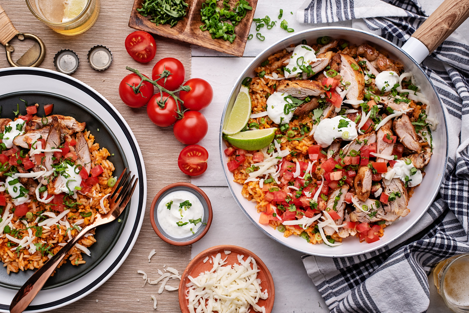 Smoky Mexican-Style Chicken Skillet