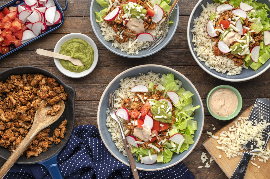 Ground Turkey Taco Bowls