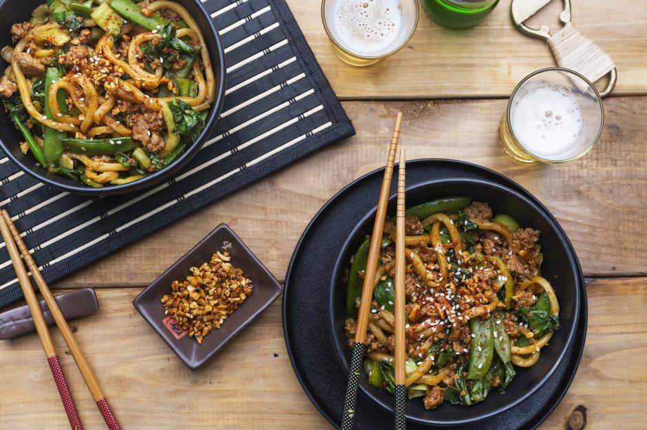 Pork Shanghai Noodle Stir Fry