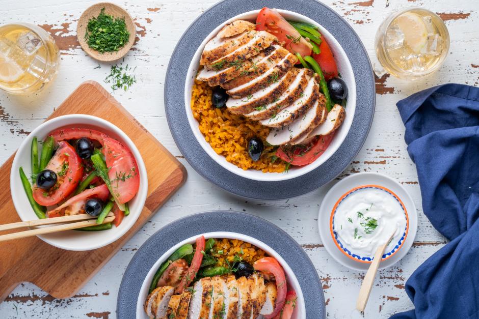 Greek-Style Chicken Bowls