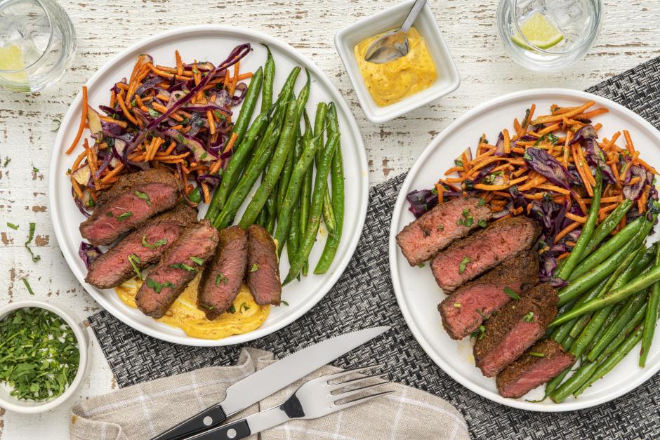 Seared Top Sirloin Steaks