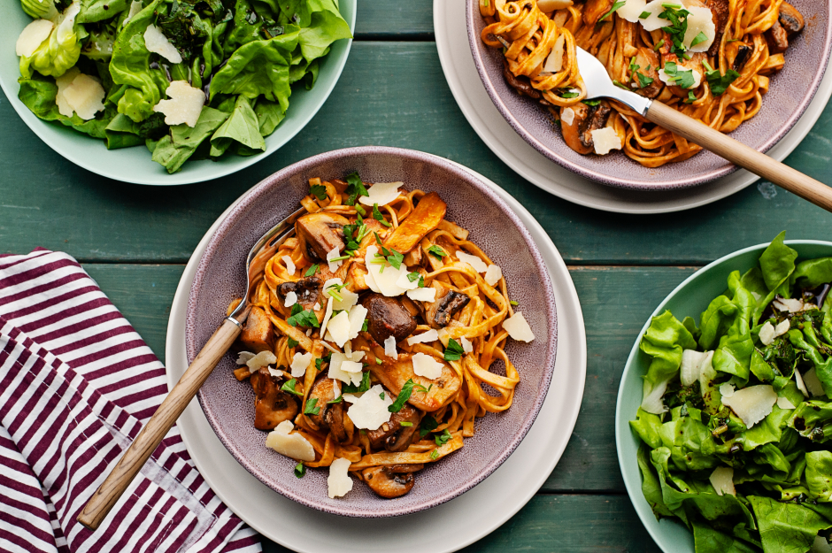 Mushroom Ragu with Fresh Tagliolini