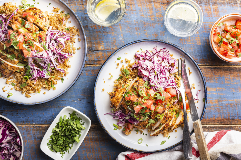 Mexican-Spiced Chicken Bowls