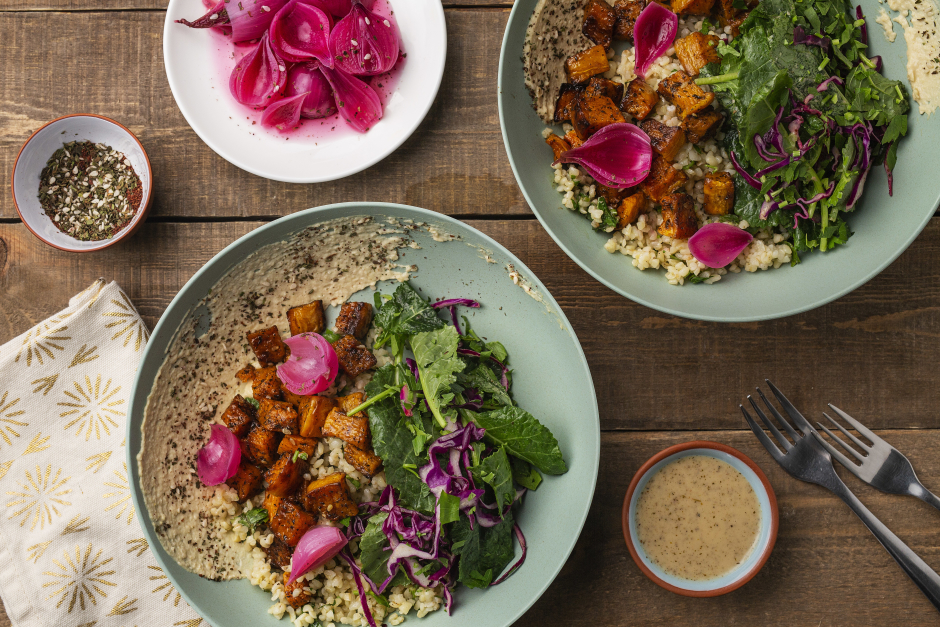 Roasted Squash Rainbow Bowls