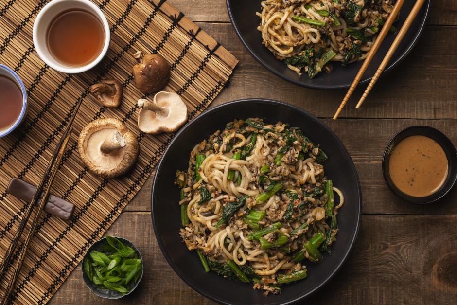 Mushroom Dan Dan Noodles