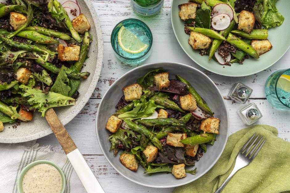 Asparagus & Quinoa Seasonal Caesar Salad
