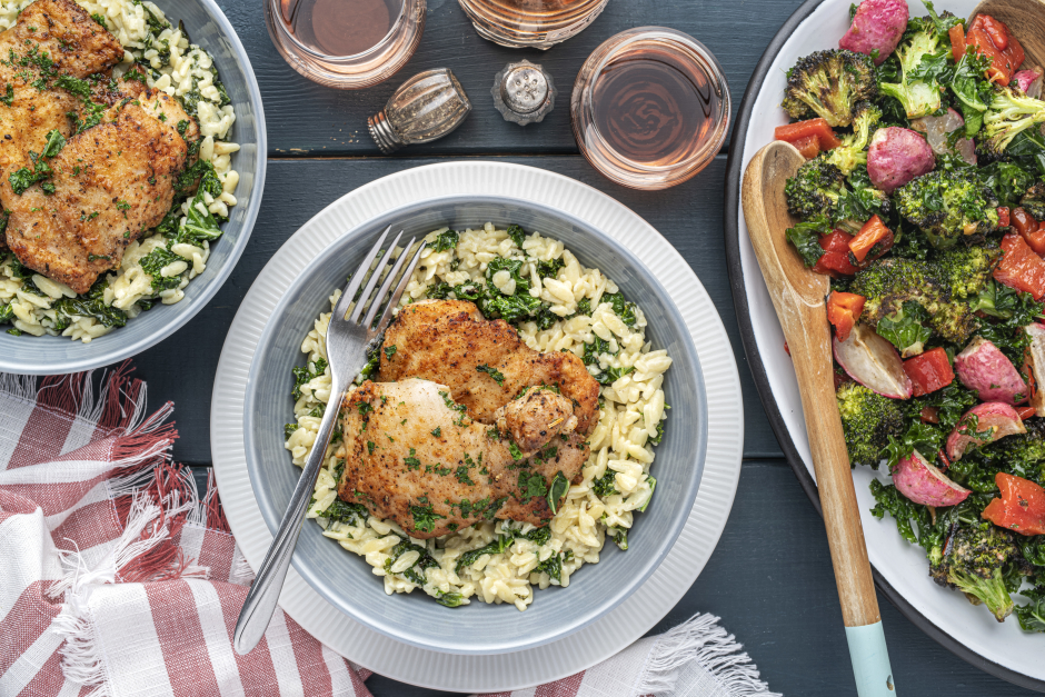 Chicken & Kale Orzo Alfredo