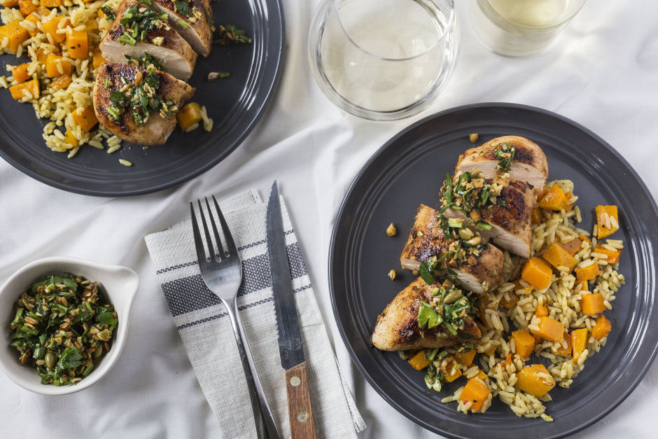 Mexican-Spiced Chicken with Pepita Gremolata