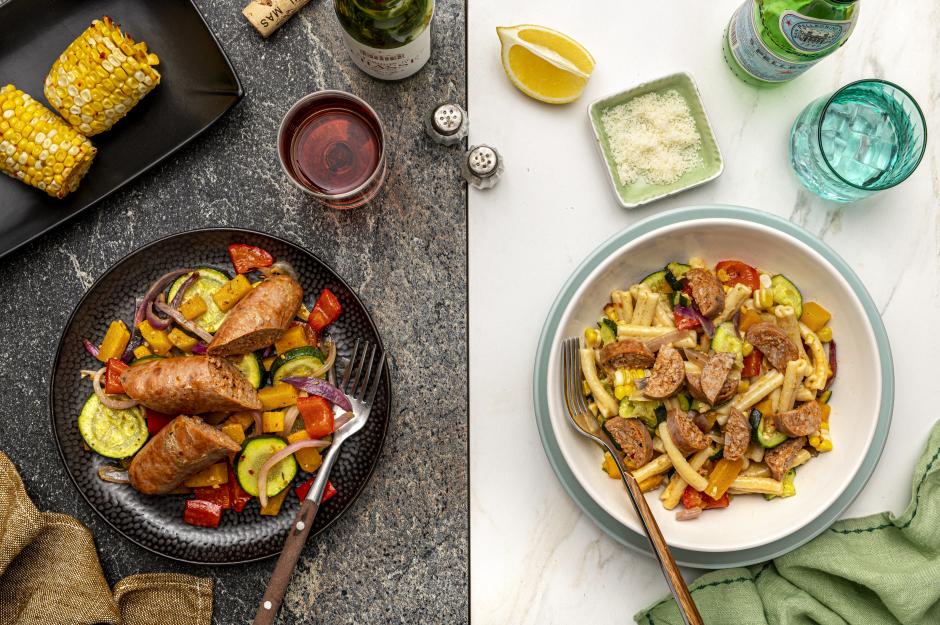 Dinner: Pork Sausage & Harvest Vegetable Sheet Pan