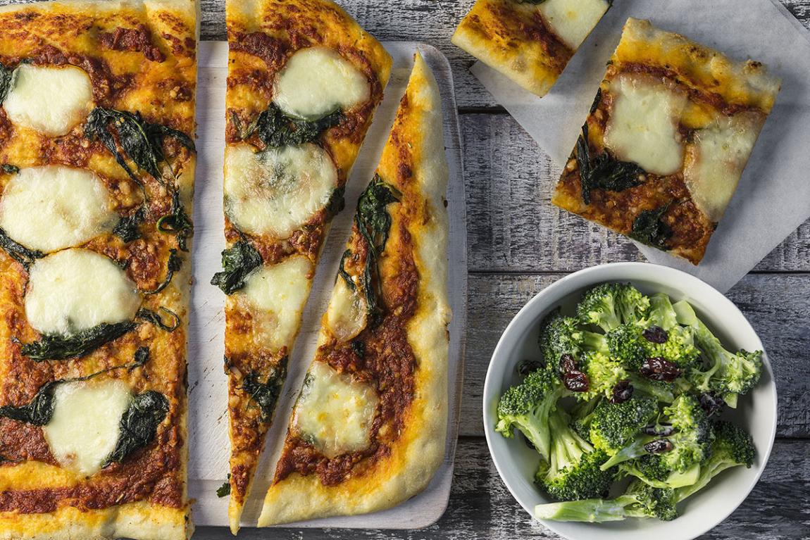 Spinach & Bocconcini Pizza