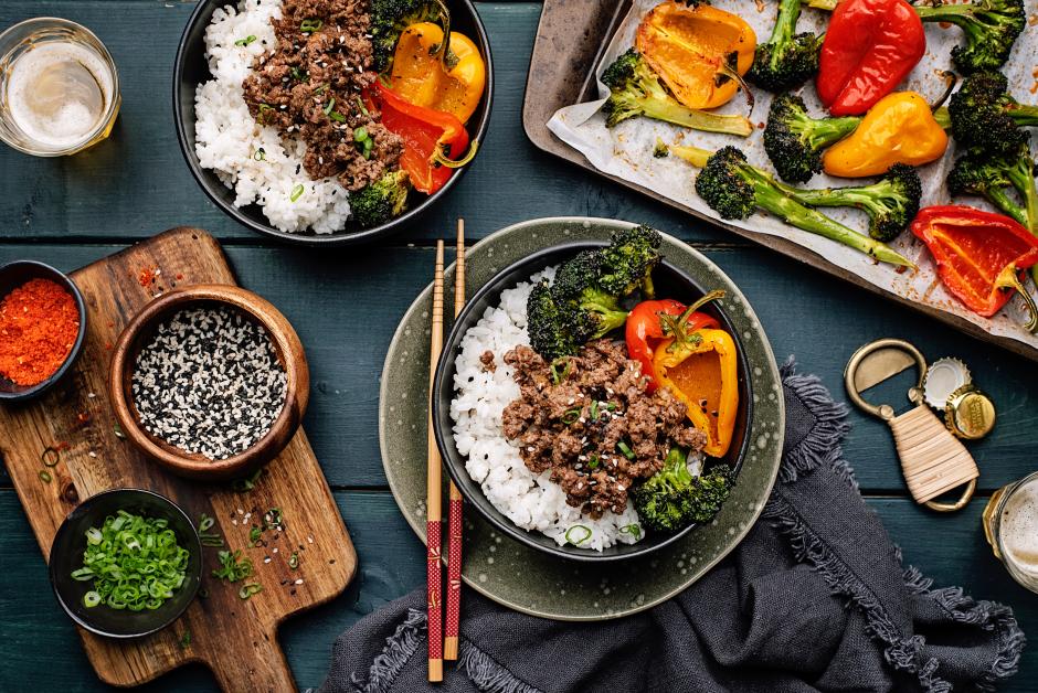 Korean-Style Beef Bowls