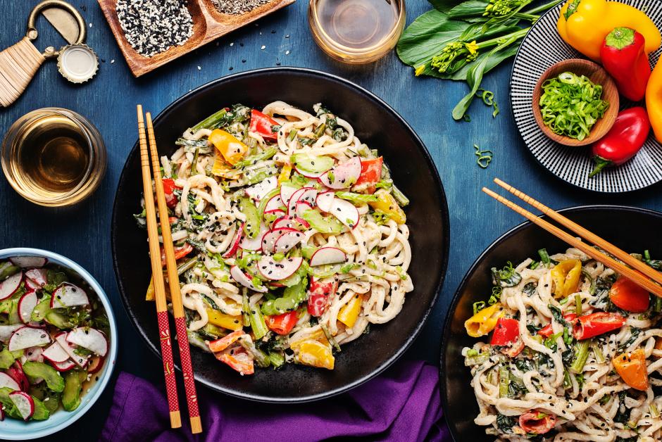 Sesame-Cashew Butter Shanghai Noodles