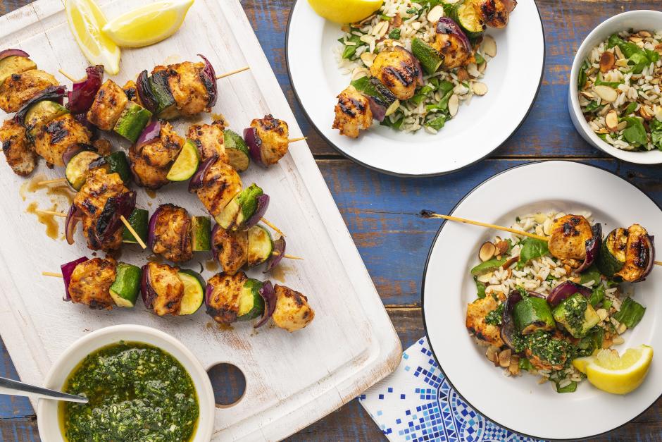 Chicken & Zucchini Spiedini with Pistou