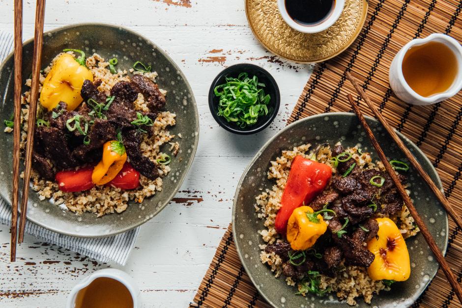 Ponzu Beef & Ginger Stir-Fry