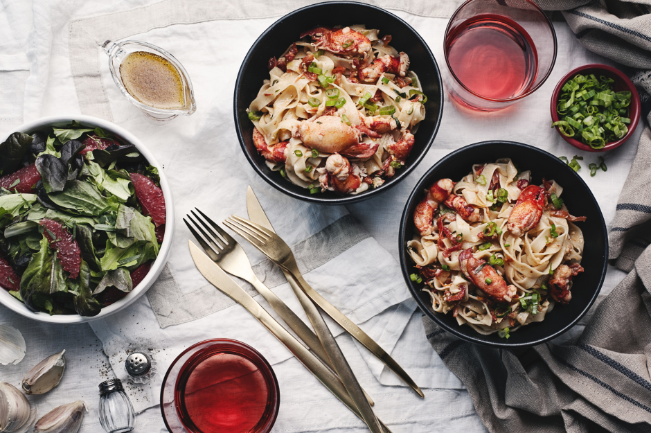 Lobster & Fresh Tagliolini with Sun-Dried Tomatoes