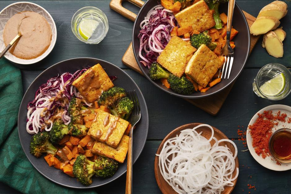 Hearty Tofu Buddha Bowls