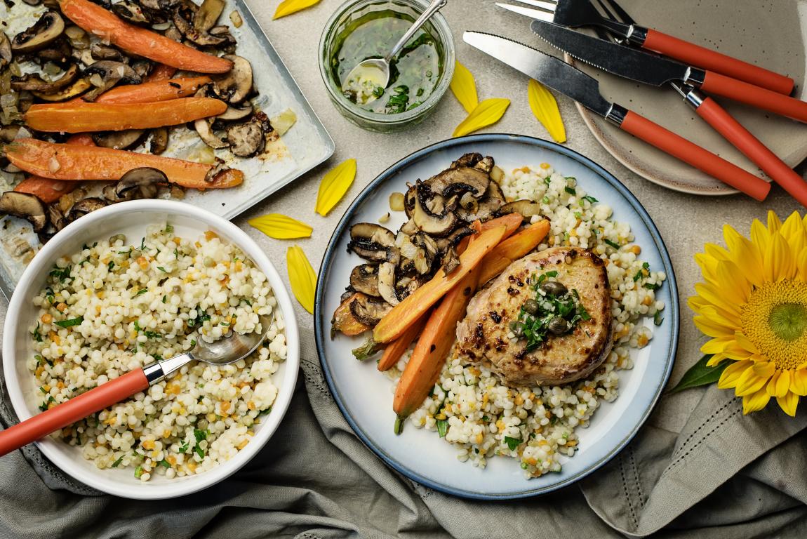 Pork Chops with Herb Salsa Verde