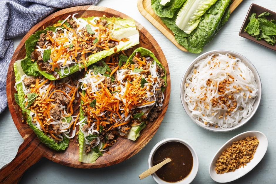 Vietnamese-Style Beef Lettuce Cups