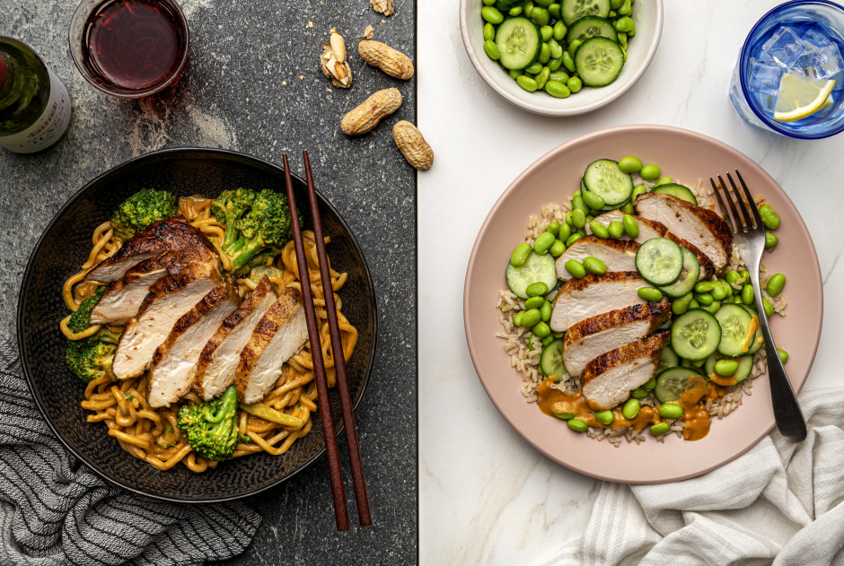 Dinner + Lunch Combo: Peanutty Chicken Breasts