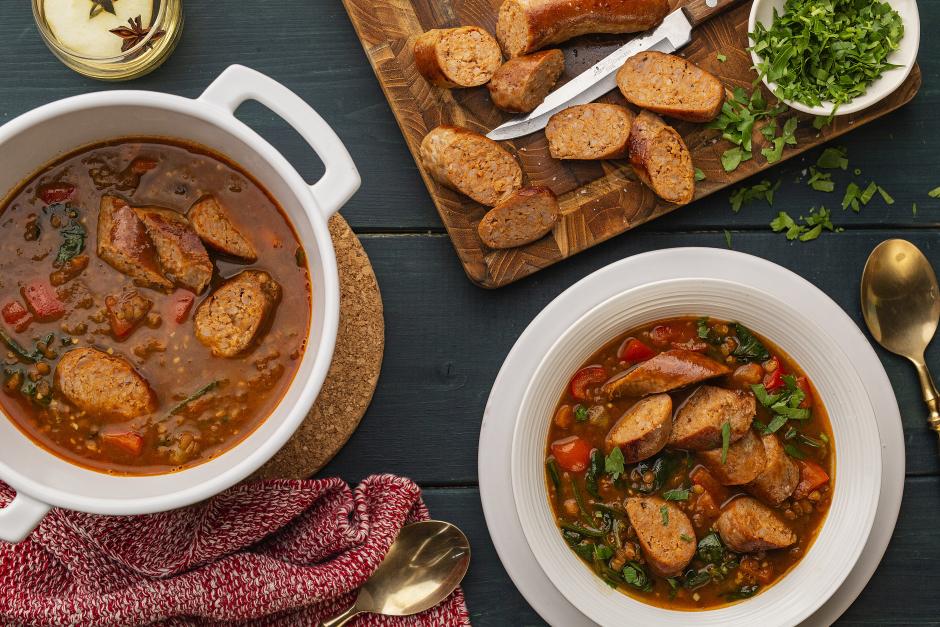 One-Pot Sausage & Lentil Soup