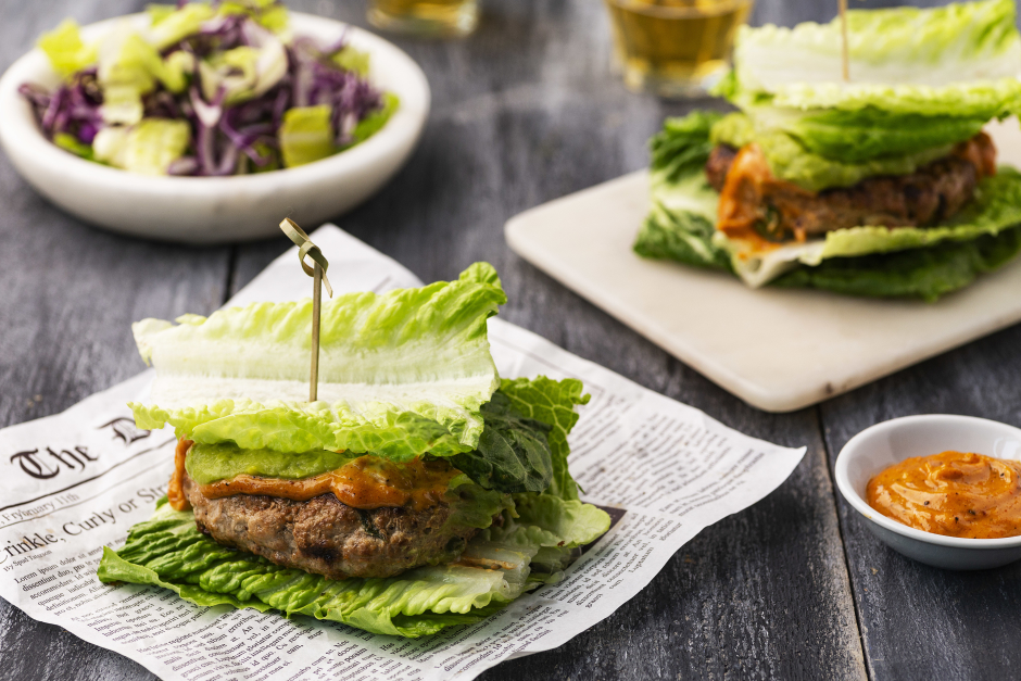 Turkey-Avocado Burgers on Lettuce 'Buns'