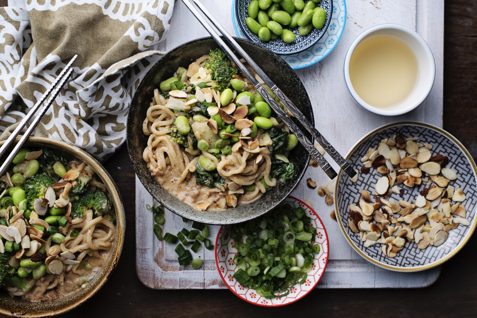Creamy Almond Butter Noodle Bowl
