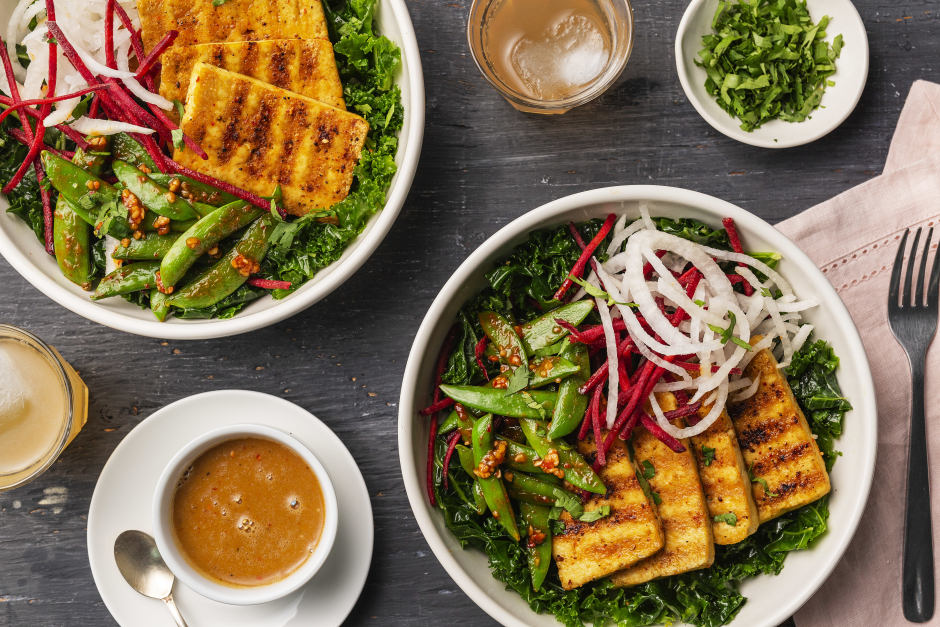 Grilled Tofu Buddha Bowl