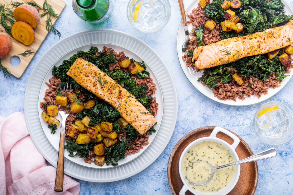 Oven-Baked Salmon with Dilled Beurre Nantais